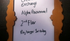 Kicking off Alpha Procurement